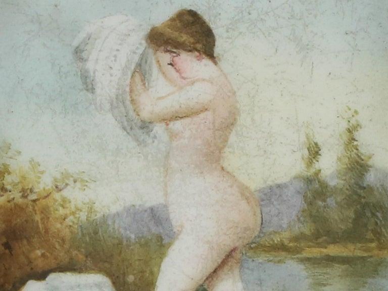 Victorian Sterling Silver and Erotica Enamel Vesta Case For Sale 4