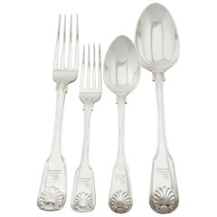 Victorian Sterling Silver Canteen of Cutlery for 12 Persons by George Adams