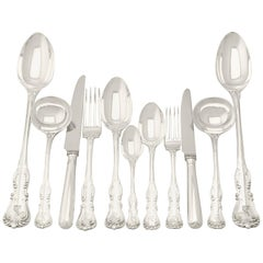 Victorian Sterling Silver Canteen of Cutlery for 12 Persons