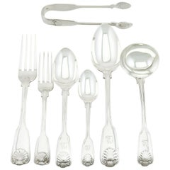 Victorian Sterling Silver Canteen of Cutlery for 6 Persons by George Adams