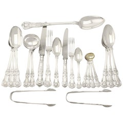 Victorian Sterling Silver Canteen of Cutlery for Eighteen Persons