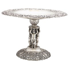 Victorian Sterling Silver Centerpiece Tazza by Black, Starr & Frost