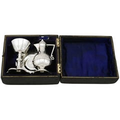 Victorian Sterling Silver Communion Set