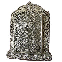 Victorian Sterling Silver Filigree Pierced Opening Photograph Frame, 1890