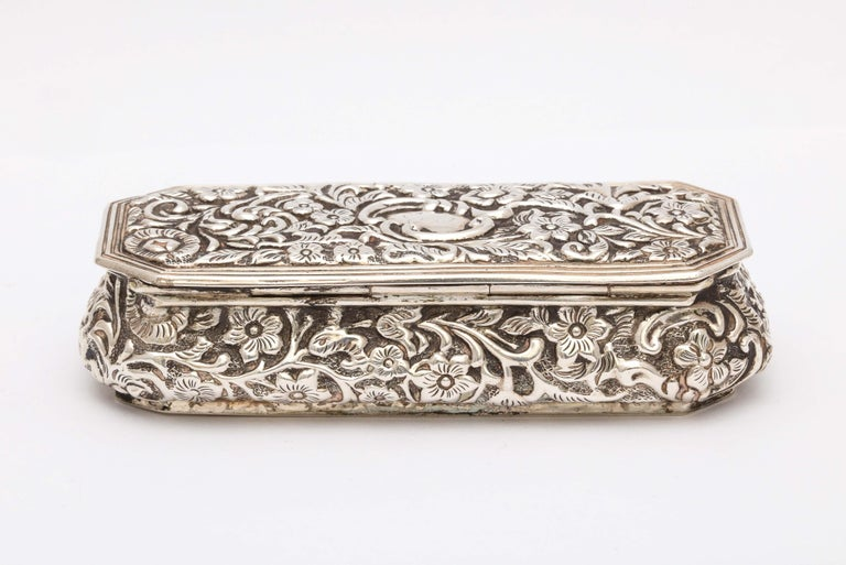 Victorian Sterling Silver Jewelry/Trinkets Box with Hinged Lid 4