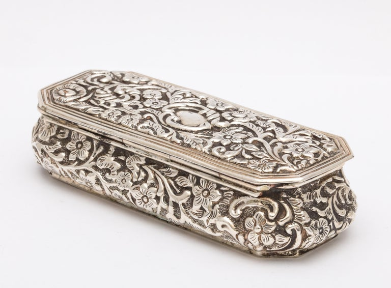 Victorian Sterling Silver Jewelry/Trinkets Box with Hinged Lid 5