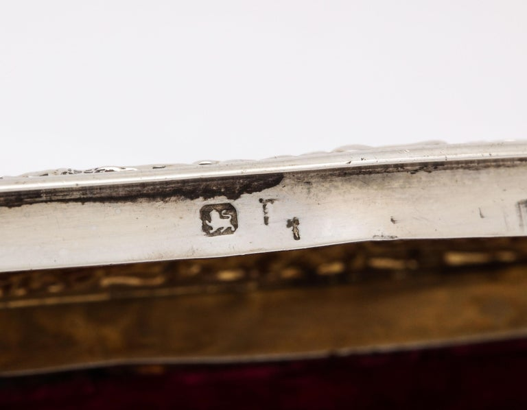 Late 19th Century Victorian Sterling Silver Jewelry/Trinkets Box with Hinged Lid