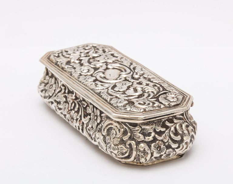 Victorian Sterling Silver Jewelry/Trinkets Box with Hinged Lid 1