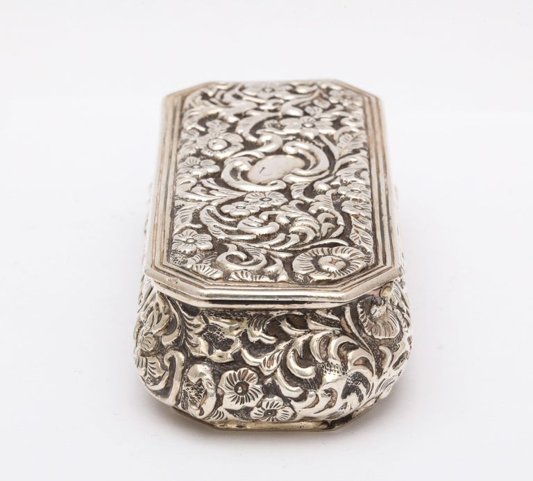 Victorian Sterling Silver Jewelry/Trinkets Box with Hinged Lid 2