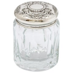 Victorian Sterling Silver-Mounted Crystal Dressing Table Jar