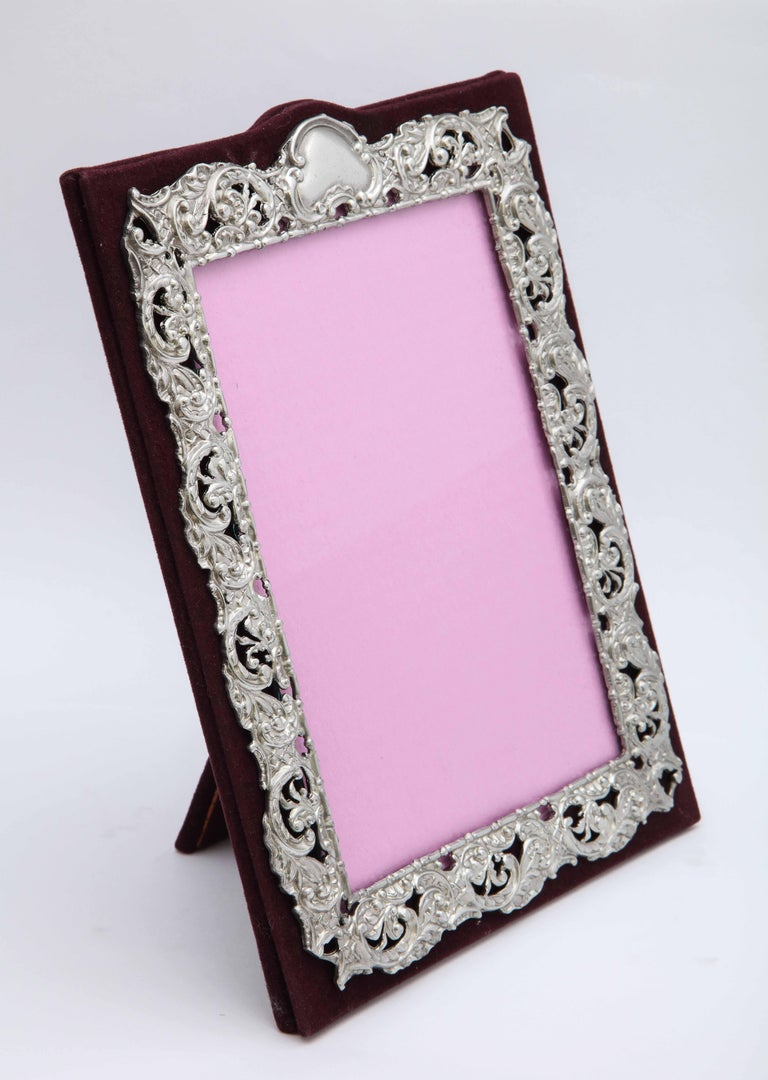 Victorian Sterling Silver Mounted Picture Frame by Deakin & Francis For Sale 5
