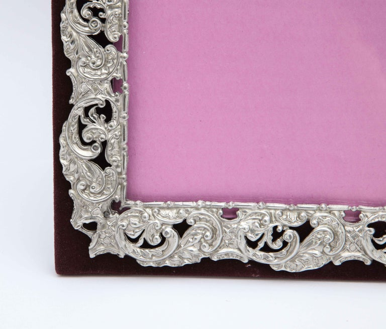 English Victorian Sterling Silver Mounted Picture Frame by Deakin & Francis For Sale