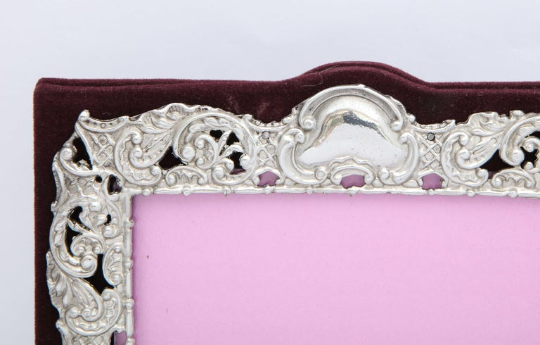 Late 19th Century Victorian Sterling Silver Mounted Picture Frame by Deakin & Francis For Sale