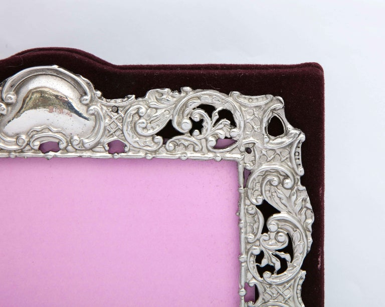 Victorian Sterling Silver Mounted Picture Frame by Deakin & Francis For Sale 1