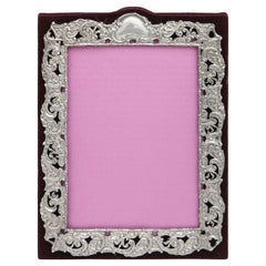 Victorian Sterling Silver Mounted Picture Frame by Deakin & Francis