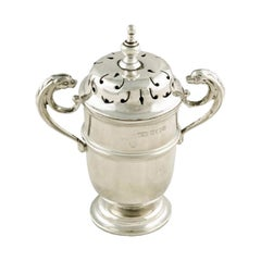 Victorian Sterling Silver Pepper Pot, 19th Century
