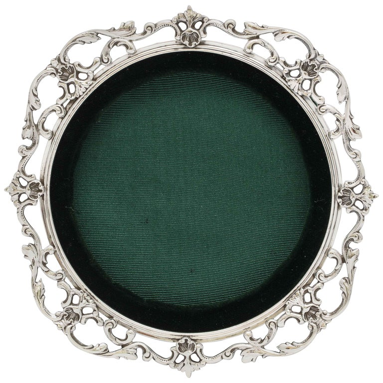Victorian Sterling Silver Picture Frame by Gorham For Sale