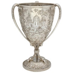 Victorian, Sterling Silver Three-Handled Loving Cup by S. Kirk and Son
