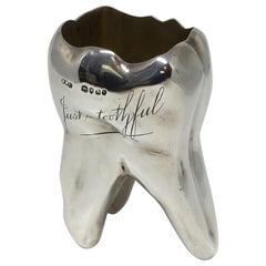 Victorian Sterling Silver Whiskey Shot Glass Fashioned as a Tooth