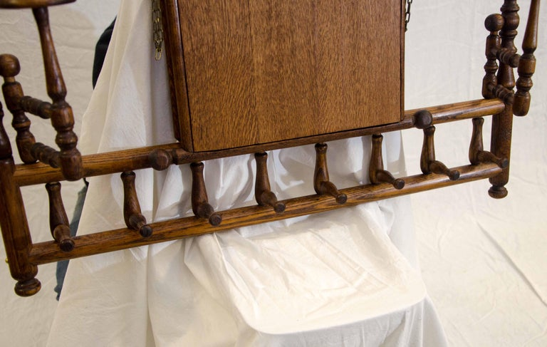 Victorian Stick and Ball Fretwork Hat and Coat Rack, Wall Mounted For Sale 4