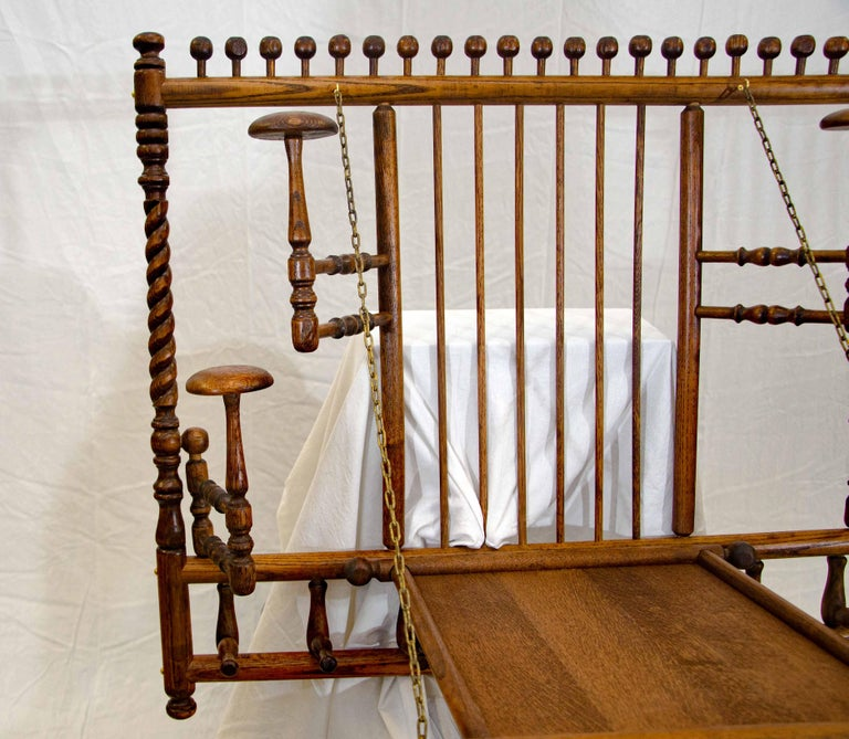 Oak Victorian Stick and Ball Fretwork Hat and Coat Rack, Wall Mounted For Sale