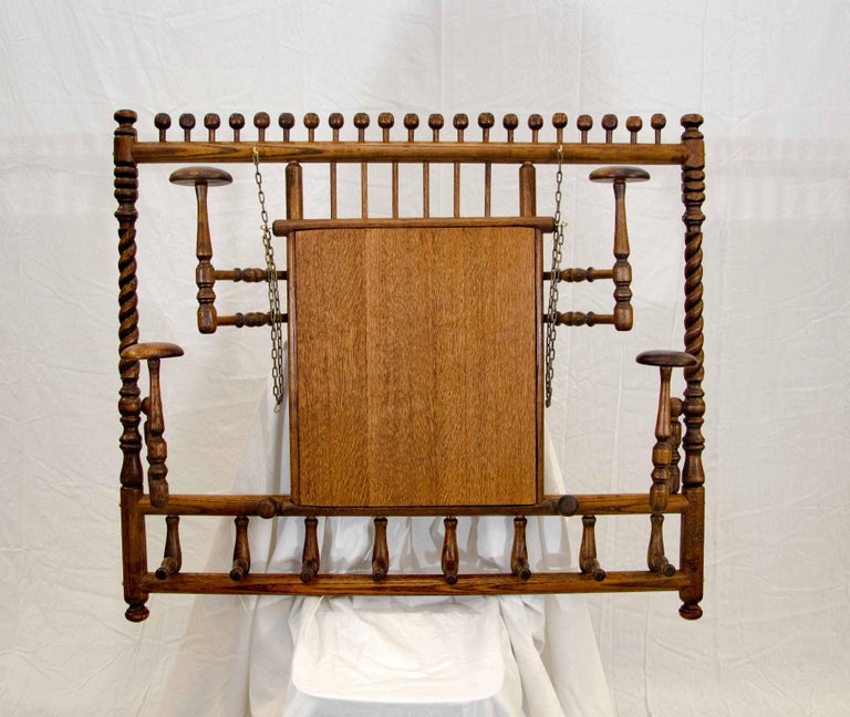 Victorian Stick and Ball Fretwork Hat and Coat Rack, Wall Mounted For Sale 1