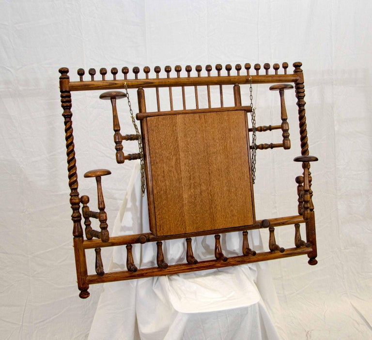 Victorian Stick and Ball Fretwork Hat and Coat Rack, Wall Mounted For Sale 2