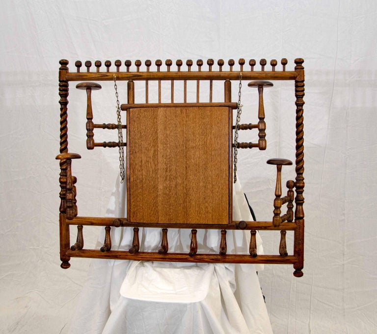 Victorian Stick and Ball Fretwork Hat and Coat Rack, Wall Mounted For Sale 3