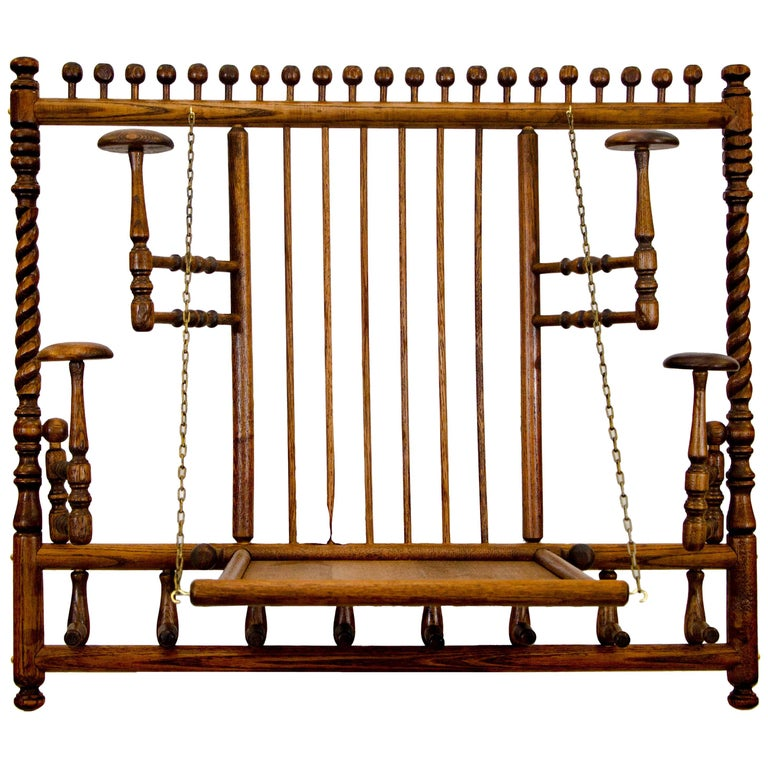 Victorian Stick and Ball Fretwork Hat and Coat Rack, Wall Mounted For Sale