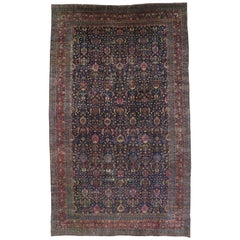 Victorian Style Antique Persian Kirman Palace Size Rug, Persian Kerman Rug