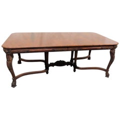 Victorian Style Carved Dining Room Table