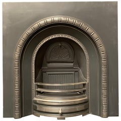 Victorian Style Cast Iron Arched Fireplace Insert