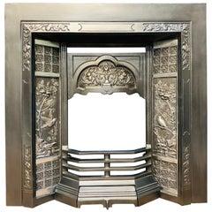 Victorian Style Cast Iron Fireplace Insert
