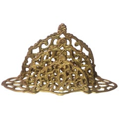 Victorian Style Filigree Brass Letters Holder