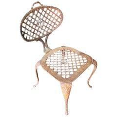 Victorian Style Iron Mesh Patio Garden Chair
