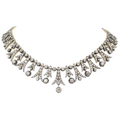 Victorian Style Old Cut Diamond Necklace