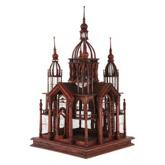 Victorian Style Raj Palace Wire Birdcage with an Abundance of Details