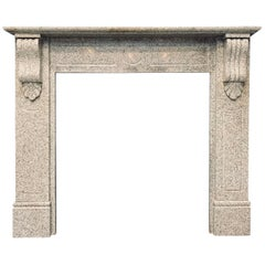 Victorian Style Scottish Corbelled Granite Fireplace Surround