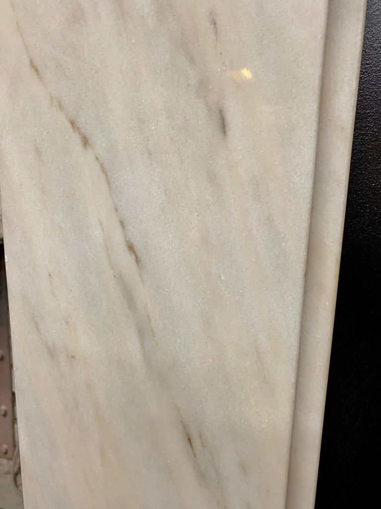 Victorian Style Statuary Marble Fireplace Surround For Sale 4