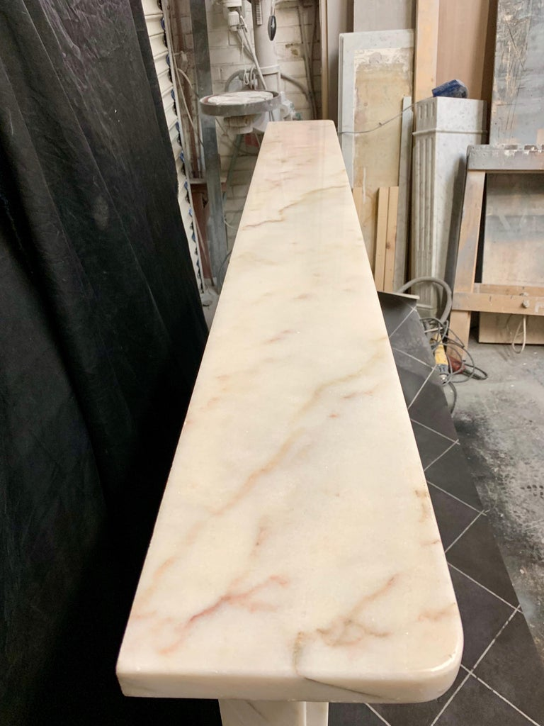Victorian Style Statuary Marble Fireplace Surround For Sale 5
