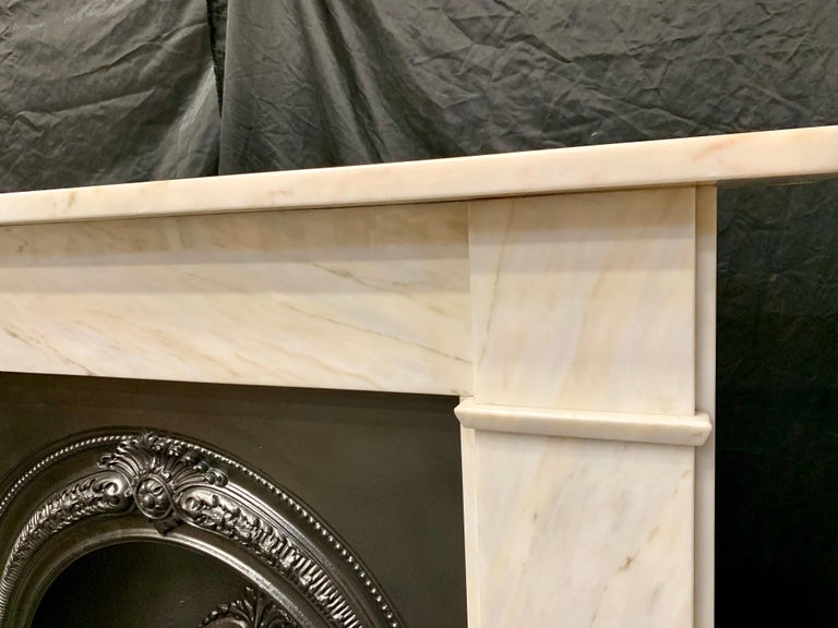 20th Century Victorian Style Statuary Marble Fireplace Surround For Sale