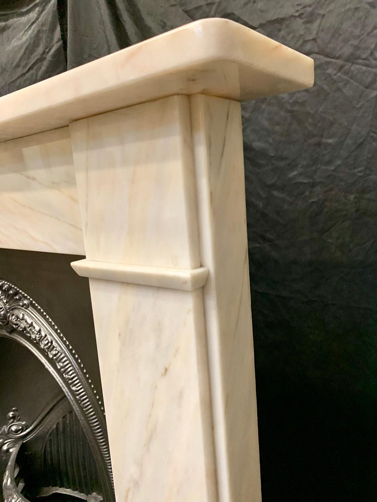 Victorian Style Statuary Marble Fireplace Surround For Sale 1