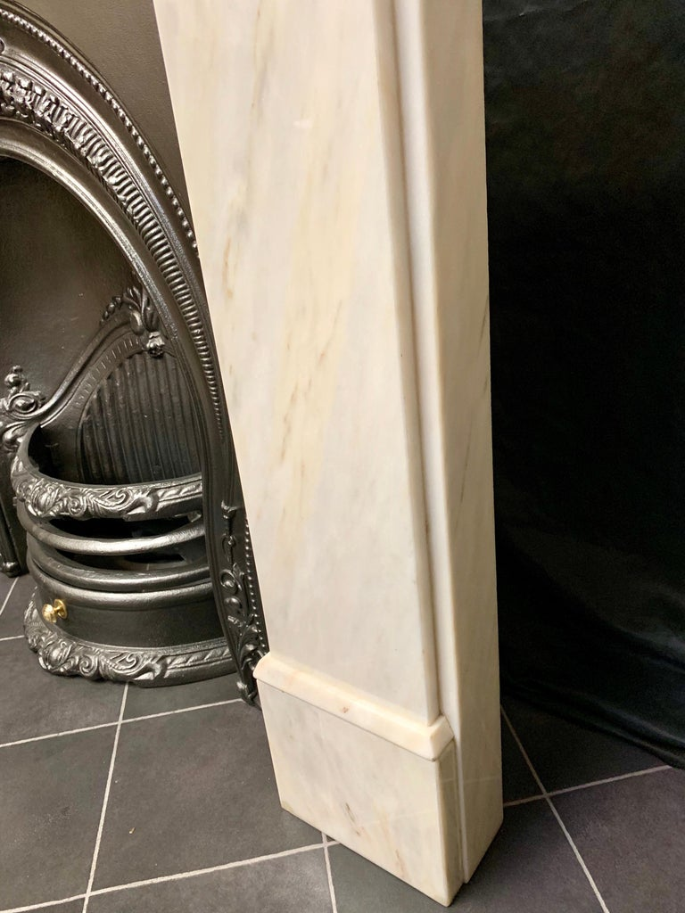 Victorian Style Statuary Marble Fireplace Surround For Sale 2