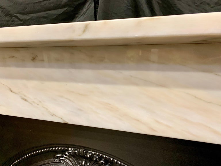 Victorian Style Statuary Marble Fireplace Surround For Sale 3