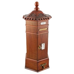 Victorian Style Table Top Letter Box, 20th Century