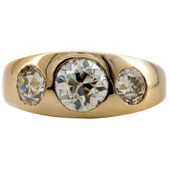 Men's 3 Carat Diamond Ring from Victorian Era Is Fusion of Fire And Class