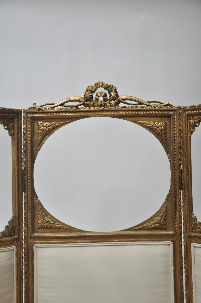 Unknown Victorian Three-Panel Upholstered Screen For Sale
