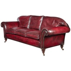 Victorian Three-Seat Chesterfield Sofa