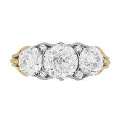 Victorian Three-Stone Diamond Engagement Ring, circa 1900s