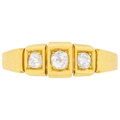 Victorian Three-Stone Diamond Ring, circa 1901